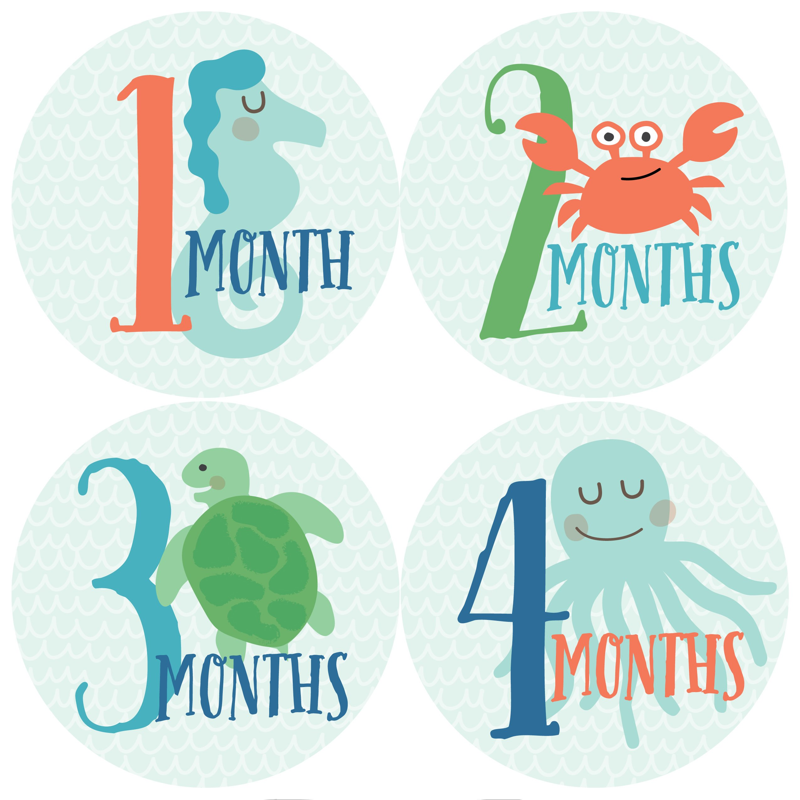 baby 39 s first year memory book with 12 milestone stickers under the sea edition baby. Black Bedroom Furniture Sets. Home Design Ideas