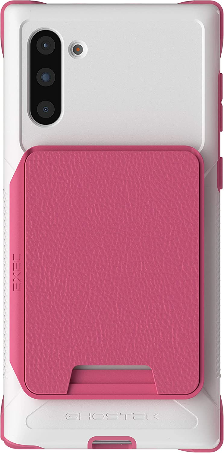 Pink 6.2 Inch Ghostek Exec Galaxy S20 Wallet Case Card Holder with Built-in Magnet for Car Mounts and Easily Detachable Leather Card Pocket for Wireless Charging - 2020 Samsung Galaxy S20