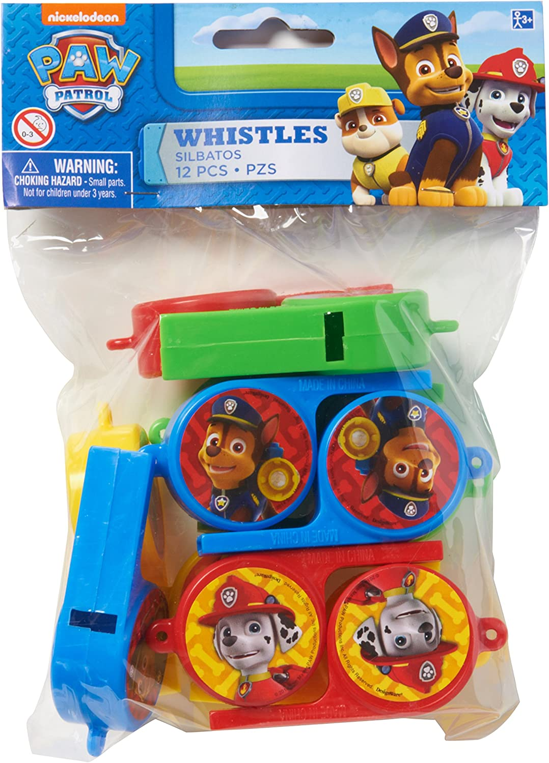 5305124 12Count Whistles amscan American Greetings Paw Patrol Party Supplies