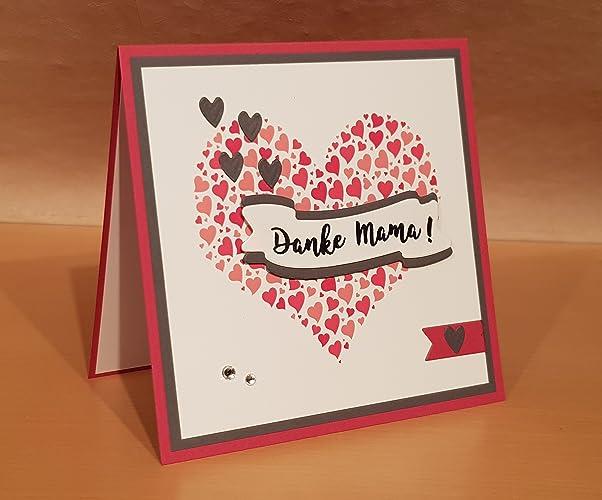 Muttertag Karte.Muttertagskarte Karte Zum Muttertag Handarbeit Amazon De Handmade