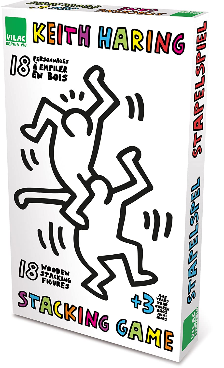amazon com vilac set of 18 keith haring stacking figures