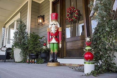 Evergreen Garden Beautiful Decorative Seasonal Regal Nutcracker Statement Garden Statue