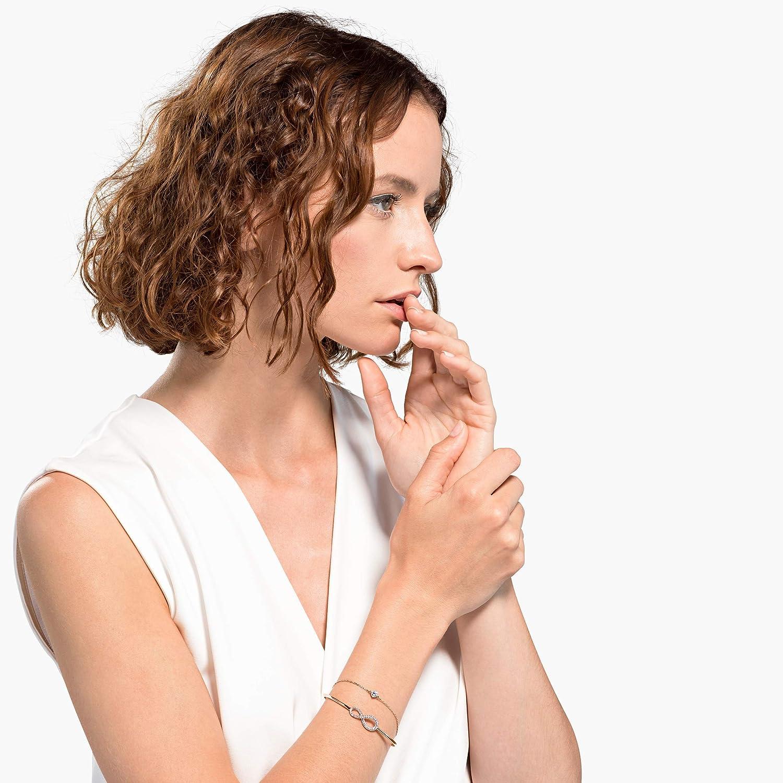 Swarovski Bracelet rigide Swarovski Infini, Blanc, Plaqué Or Rose ...