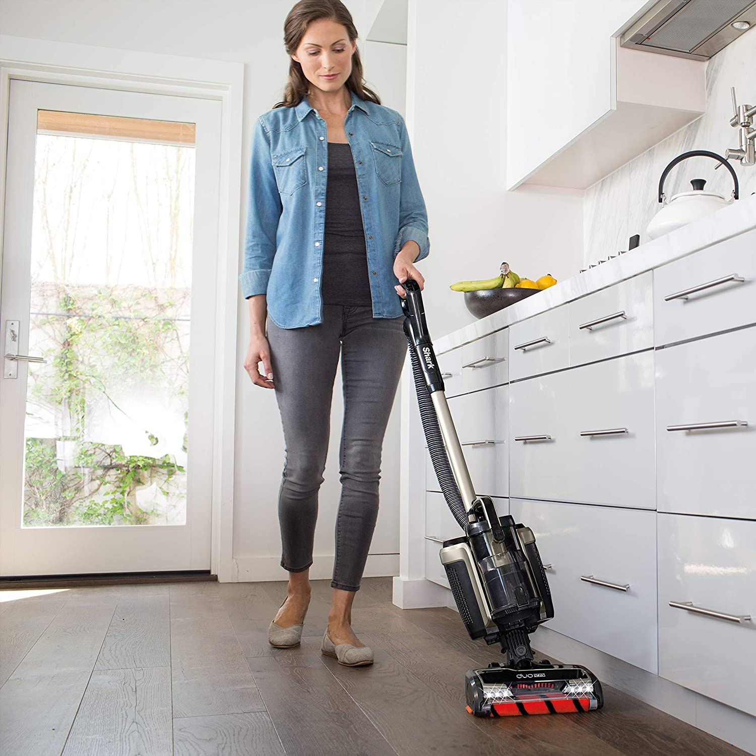 ION P50 Lightweight Cordless Upright Vacuum with HEPA Filter, Handheld Vacuum Mode, and Shark DuoClean for Carpet and Hardfloor Cleaning IC162
