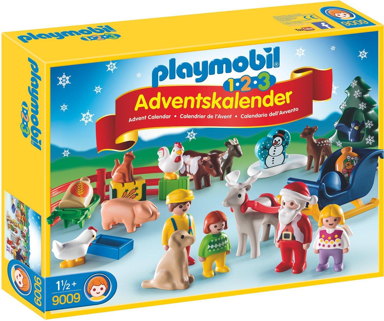 Playmobil 9009 - 1.2.3 Adventskalender Weihnacht auf dem Bauernhof de toys GEOVR