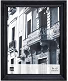 Kiera Grace Claire Picture Frame, 8 by 10 Inch, Black with Raised Leaf Border