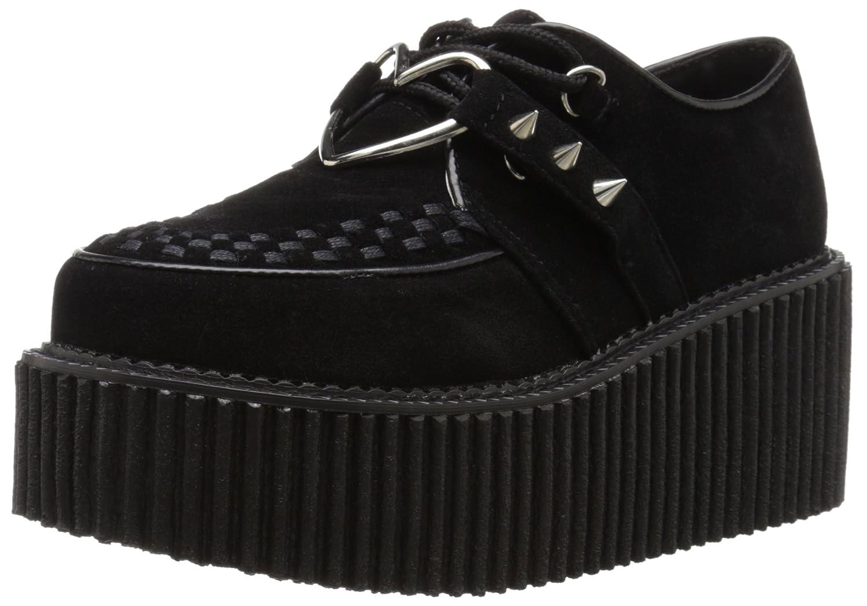 Demonia Women's CRE206/BVS-VL Fashion Sneaker B016D6BM88 6 B(M) US|Black Vegan Suede