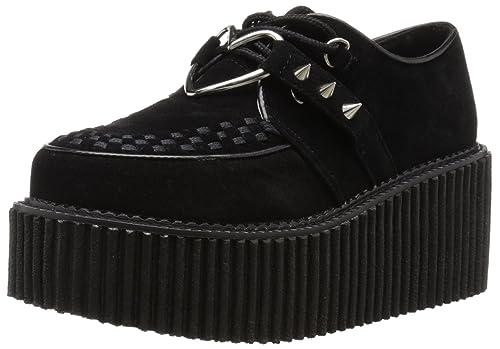 T.U.K. Mondo Lo Creeper - Zapatillas para mujer negro negro, color negro, talla 40