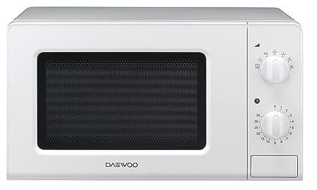 Daewoo KOR-6F07 Microondas, 20 litros, manual, sin grill, color blanco, 700 W
