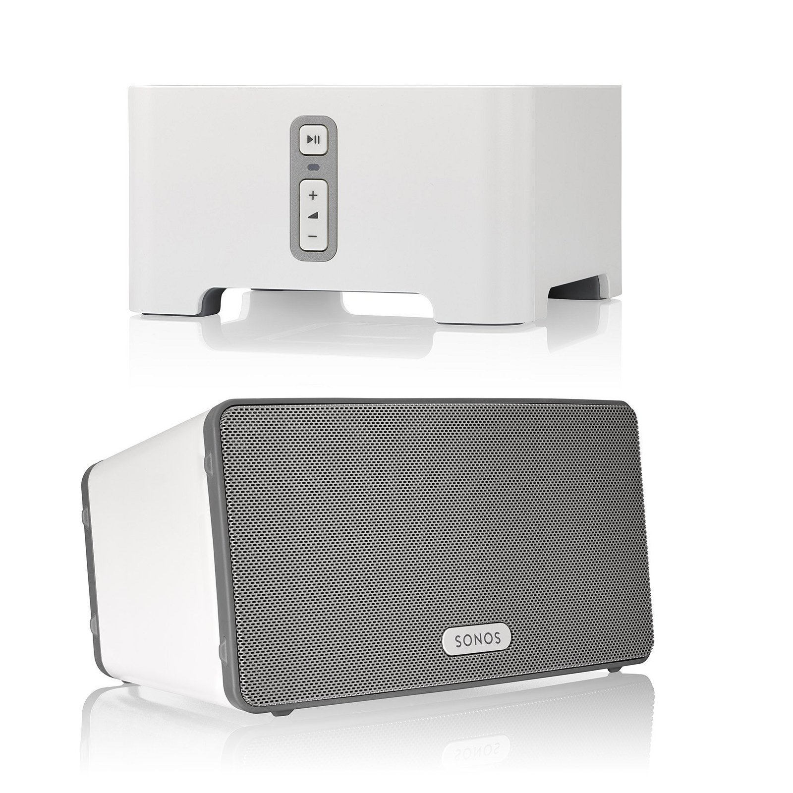 Sonos CONNECT Wireless Receiver for Streaming Music Bundle & Sonos PLAY:3 Wireless Speaker, Single - White