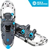 Sawtooth Snowshoes for Men and Women. Fully Adjustable Bindings, Lightweight Material, Hard Pack Grip Teeth