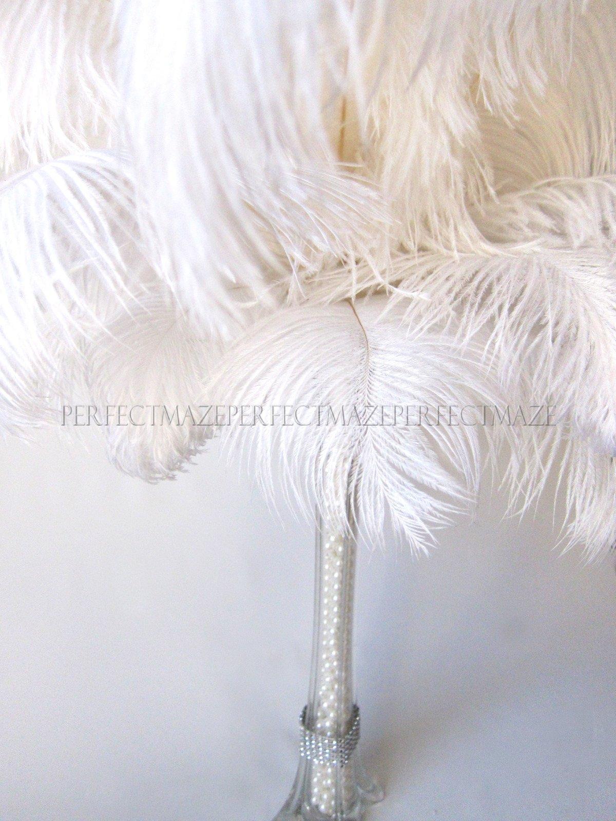 Perfectmaze 100 Piece 16''-18'' Ostrich Feather Premium Quality for Wedding Party Centerpiece Vase Decoration