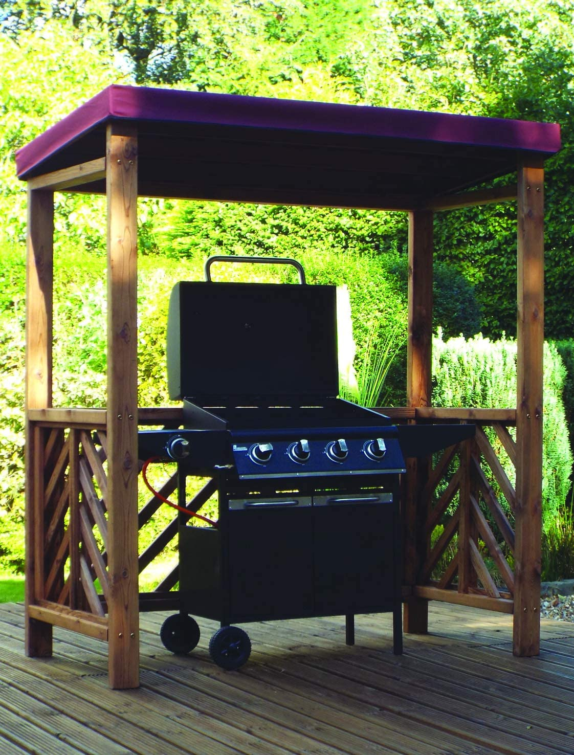 Samuel ALEXANDER Charles Taylor Hand Made Chunky Rustic Wooden BBQ Barbecue Shelter Roof Cover