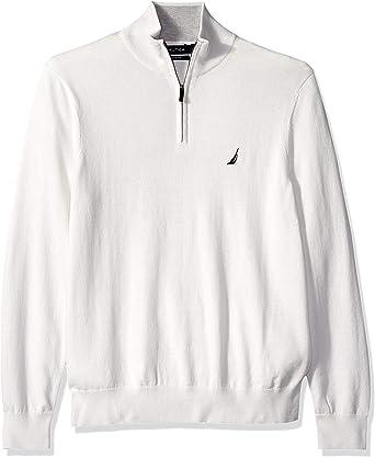 Nautica Mens Quarter-Zip Sweater