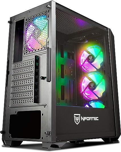 Torre Gaming Nfortec Krater para PC con Cristal Templado y 4 ...