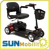 Pride Go Go Elite Traveller Plus 4 Wheel Portable Mobility Scooter 18AH Batteries