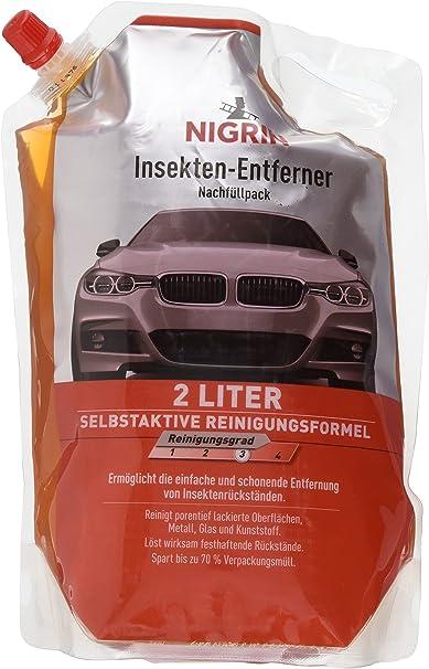 Nigrin 20008 Insekten Entferner Nachfüllpack 2 Liter Auto