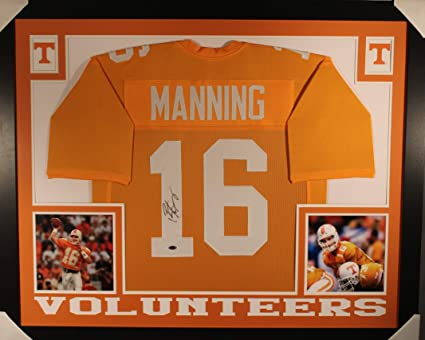 size 40 3ddab 414ce Peyton Manning Tennessee Volunteers Autograph Signed Custom ...