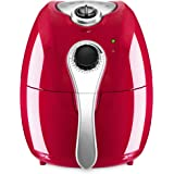 Best Choice Products 4.4qt Oil-Free Home Kitchen Electric Air Fryer w/Rapid Air Circulation, Temperature Control, Timer, Detachable Handles - Red