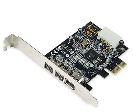 Syba SY-PEX30016 3 Port IEEE 1394 Firewire 1394B & 1394A PCIe 1 1 x1 Card  TI XIO2213B Chipset Requires Legacy Driver for Windows 8 10