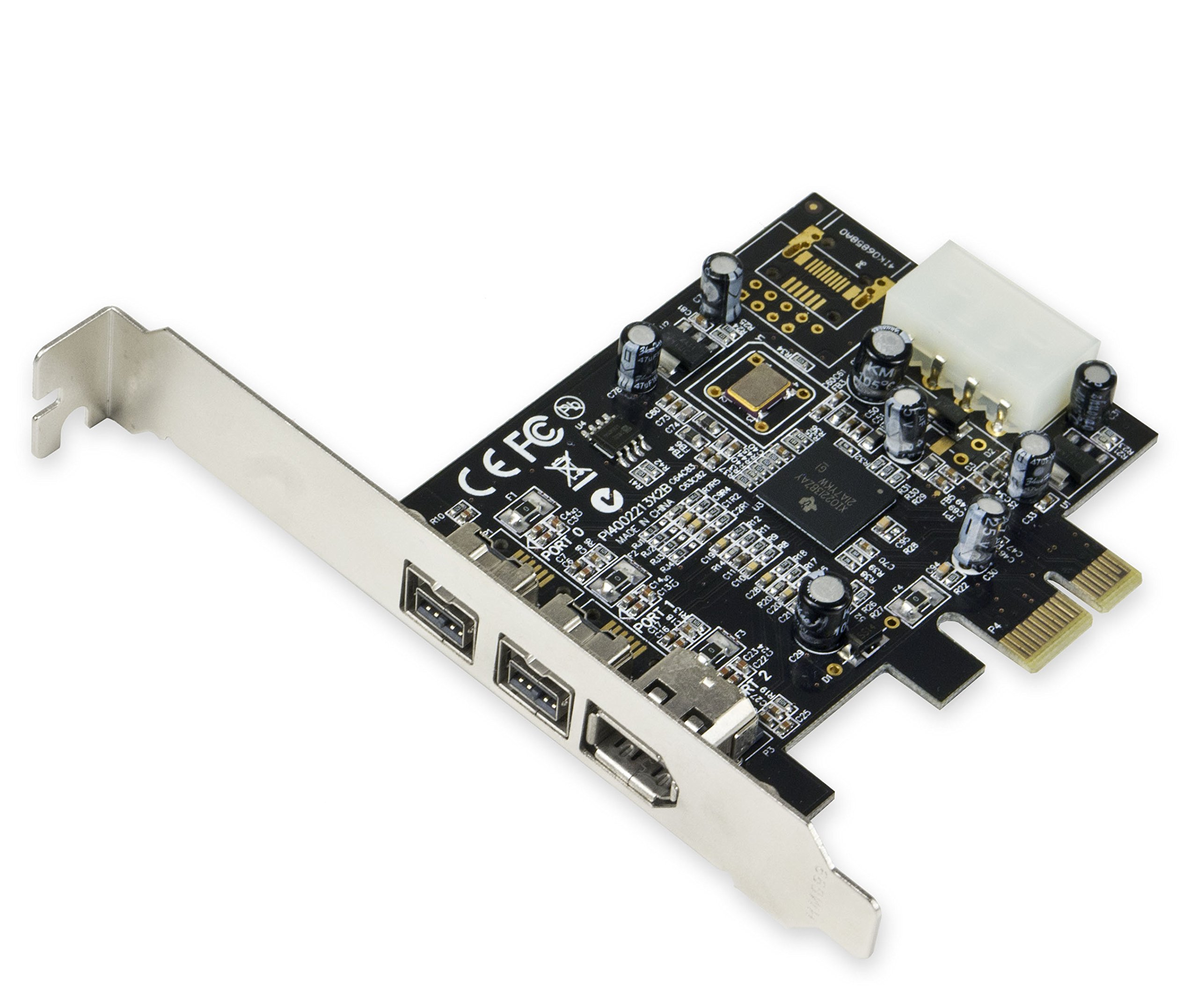 Syba Sy-pex30016 3 Puertos Ieee 1394 Firewire 1394b Y 1394a Pcie 1.1 X1 Tarjeta Ti Xio2213b Chipset Requiere Controlador