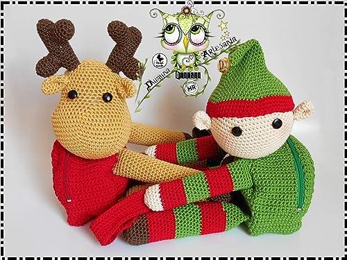 Christmas deer amigurumi pattern | Amigurumi navideño, Patron ... | 375x500