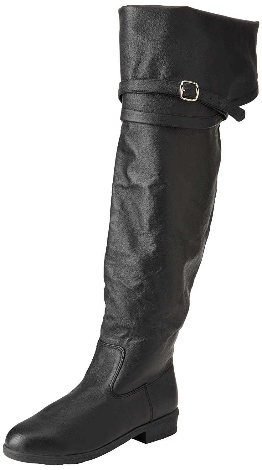 Deluxe Adult Costumes - Men's black Aassassin's Creed,  maverick Halloween costume knee high faux leather boots.