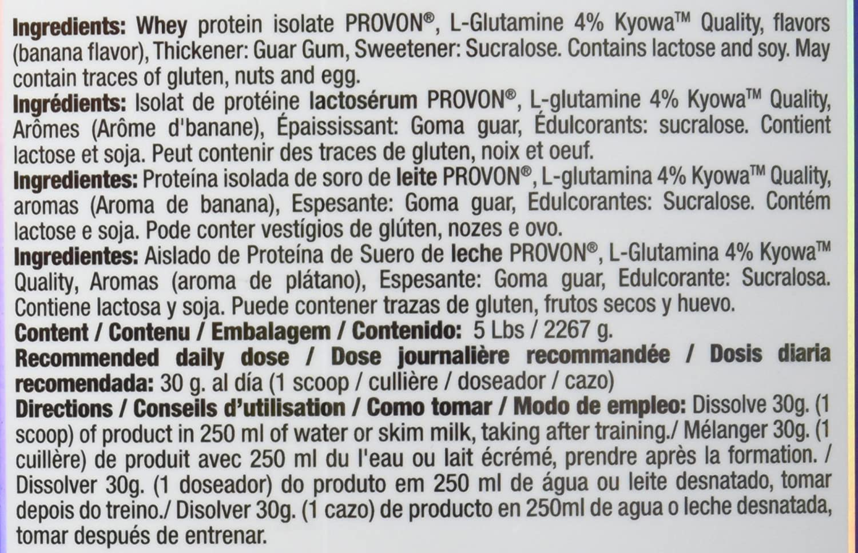 Quamtrax Proteina ISOPRO CFM Sabor Plátano - 2267 gr