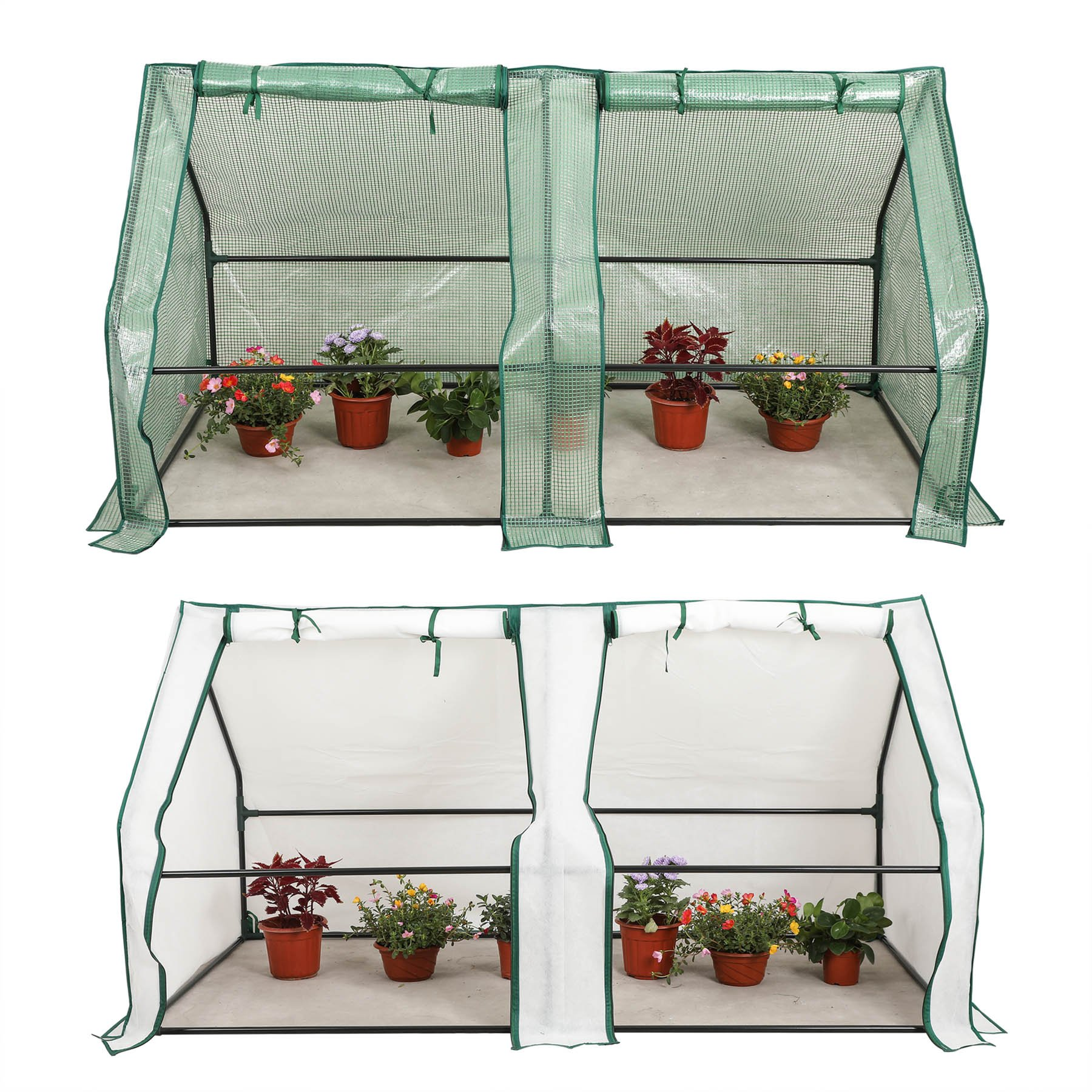 CO-Z Portable Greenhouse Mini Hot House with PE and Non-Woven Cover, Waterproof Cloche Greenhouse and UV Protected Greenhouse Tent, 5.9 x 3.0 x 3.0 Feet. by CO-Z (Image #1)