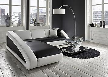 Exklusiv Sofa sam ecksofa ciao sofa schwarz weiß weiß 250 x 270 cm ottomane