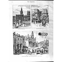 Old Antique Print 1881 Arqueología Arqueología España Burgos