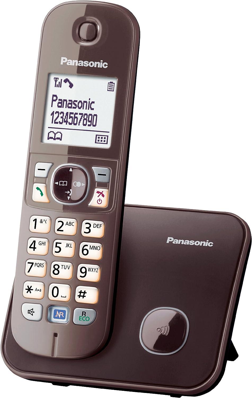 Panasonic KX-TG6811 - Teléfono fijo digital (inalámbrico, pantalla LCD, identificador de llamadas), marrón [versión importada]: Panasonic: Amazon.es: Electrónica