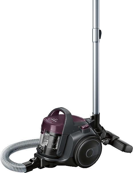 Bosch Hogar BGC05AAA1 Aspirador sin Bolsa, Diseño Ultra-Compacto, Filtro HEPA H12 Lavable, 700 W, 1.5 litros, 78 Decibelios, Plástico/Metálico/Acero Inoxidable, Violeta/Gris: Amazon.es: Hogar
