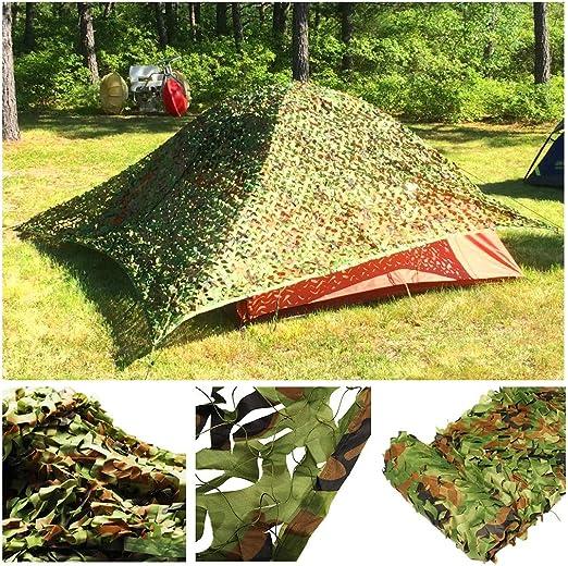 Red de camuflaje del ejército Woodland Selva verde Camo Sombrilla Red Red de jardín Protector solar