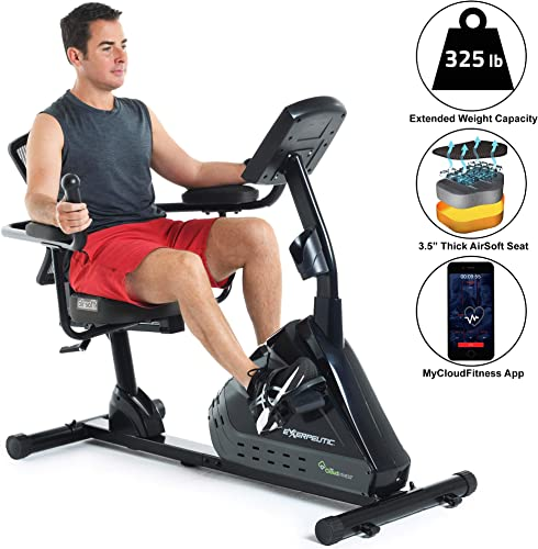Exerpeutic-5000-Magnetic-Recumbent-with-Airsoft-seat-and-Bluetooth-MyCloudFitness-App