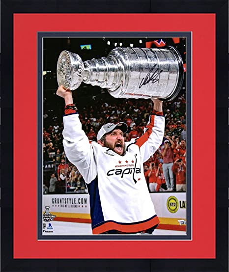 8f72b5792 Image Unavailable. Image not available for. Color  Framed Alex Ovechkin Washington  Capitals 2018 Stanley Cup Champions ...