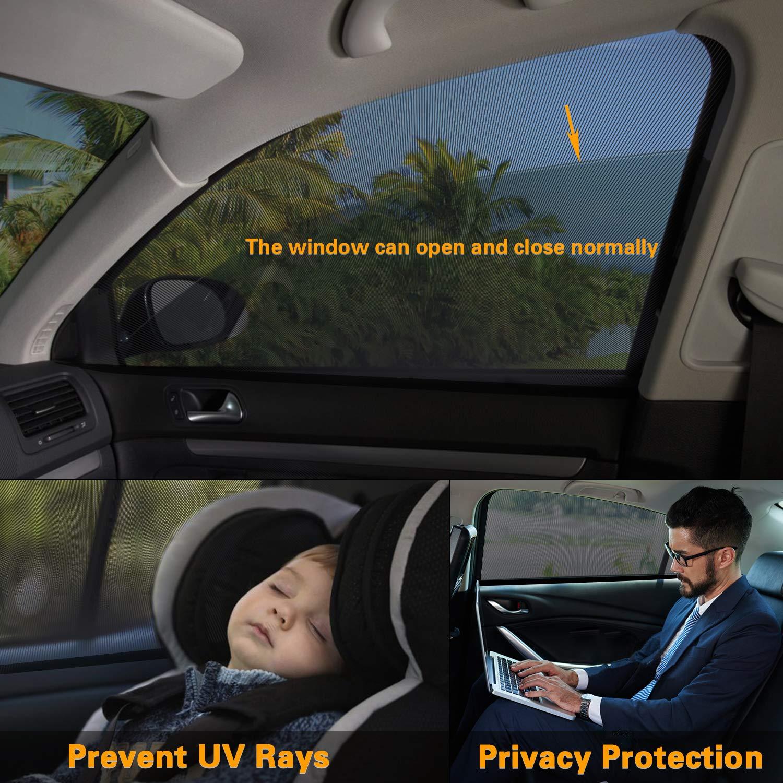 , flexibel geeignetf/ür Autos- Ihre Baby//Kinder werdenvorSonnengesch/ützt 114 * 45 cm PEMOTech Sonnenschutz Auto Baby Auto-Hinterseitenfenster Sonnenblenden f/ür Baby 2 St/ück dehnbaresNetz