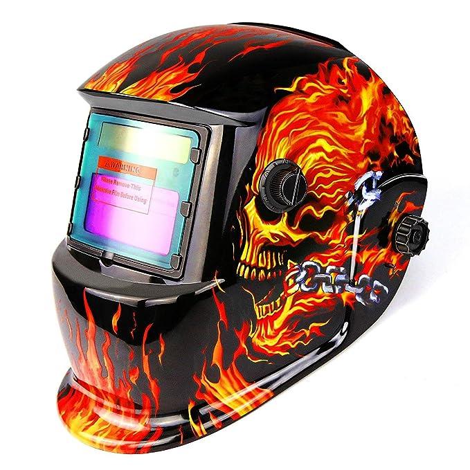 Máscara de soldadura casco de soldadura solar powered soldadura ...