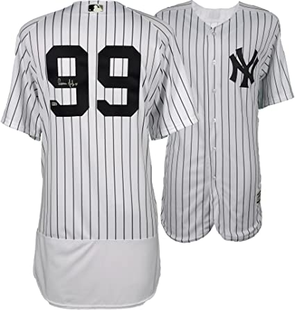 236ad0fba84 Image Unavailable. Image not available for. Color  Aaron Judge New York  Yankees Autographed Majestic White Authentic Jersey ...