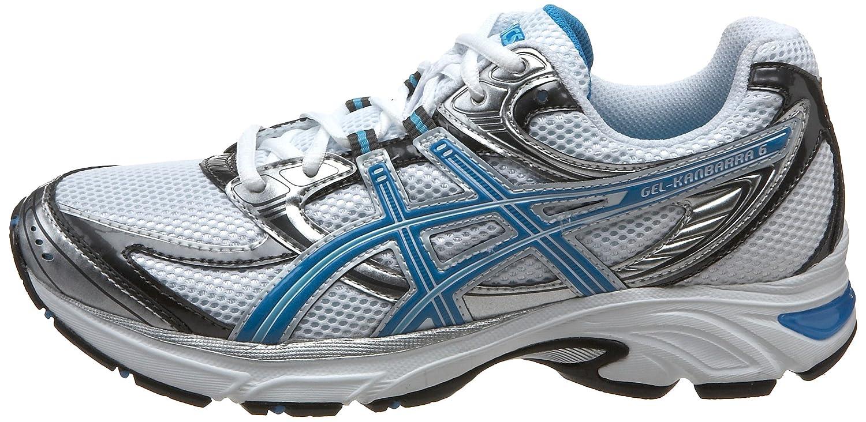 b866045762a Amazon.com | ASICS Women's GEL-Kanbarra 6 Wide T190N.0143 Running Shoe,  White/Blue Jewel/Lightning, 8.5 D US | Running