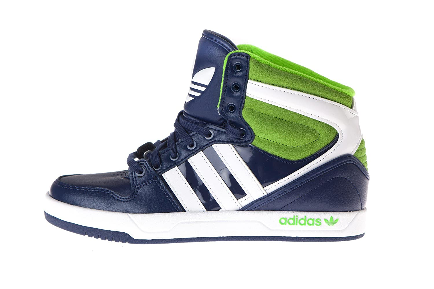 brand new 6127d a1378 adidas Court Attitude K Girls Trainers Blue 35 + Amazon.co.uk Shoes  Bags
