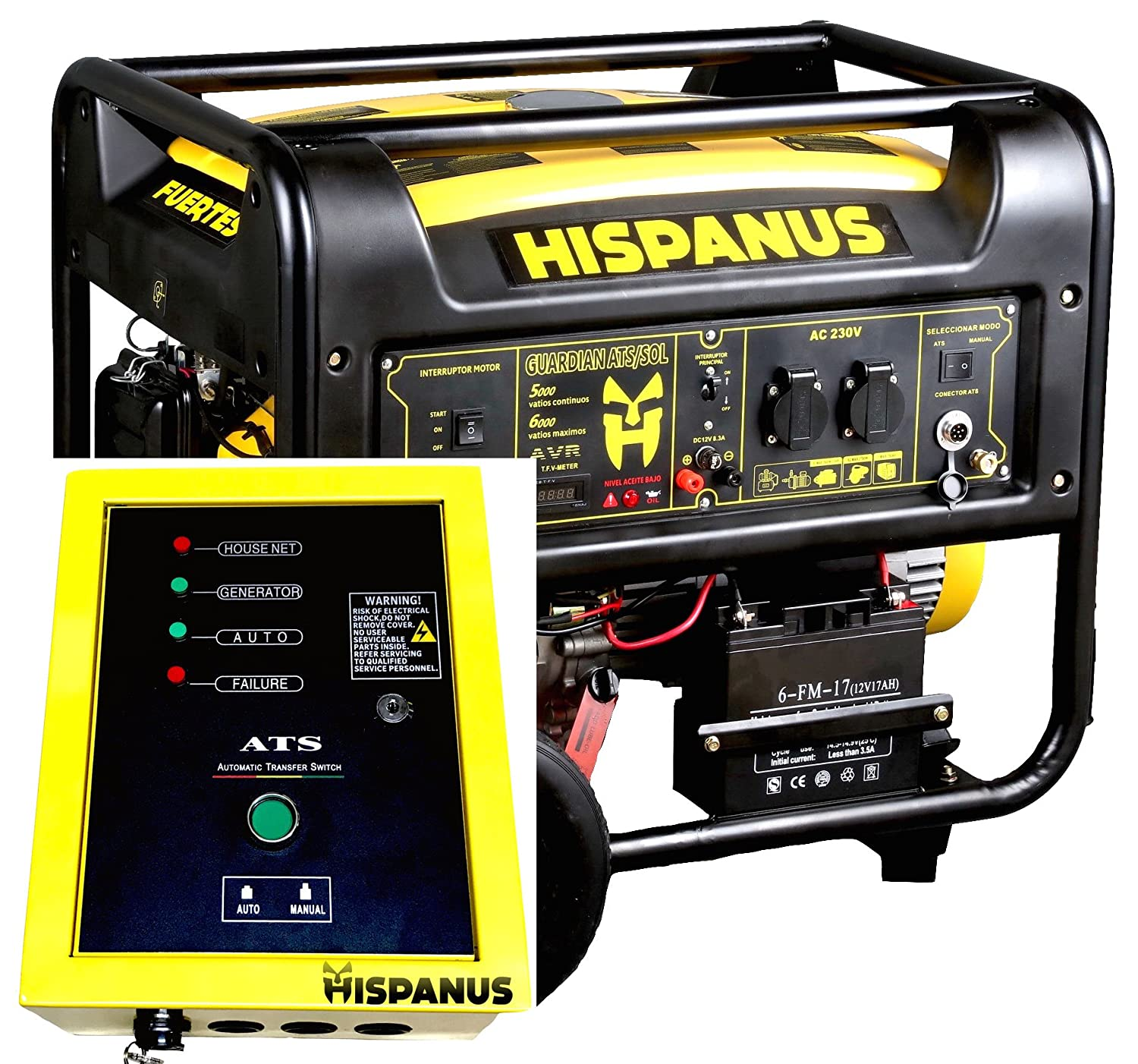 HISPANUS GUARDIAN ATS SOL wp GENERADOR DE GASOLINA