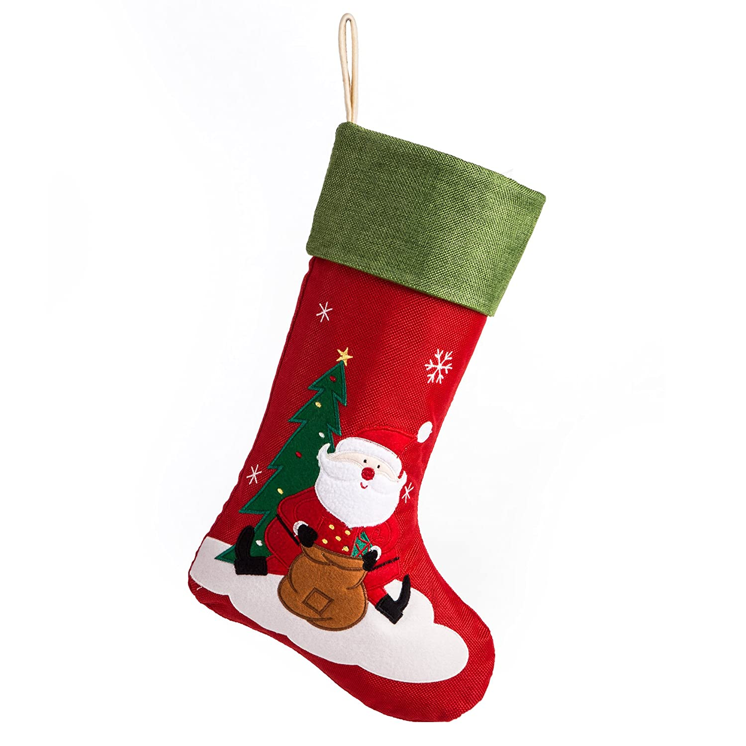 Burlap Christmas Stockings.Details About 18 Burlap Christmas Stocking Large Craft Socks Traditional Santa Stockings