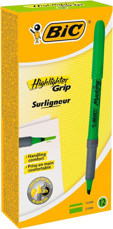 BIC Brite Liner grip/ colore: Nero Yellow 5-Count /blu confezione da 12