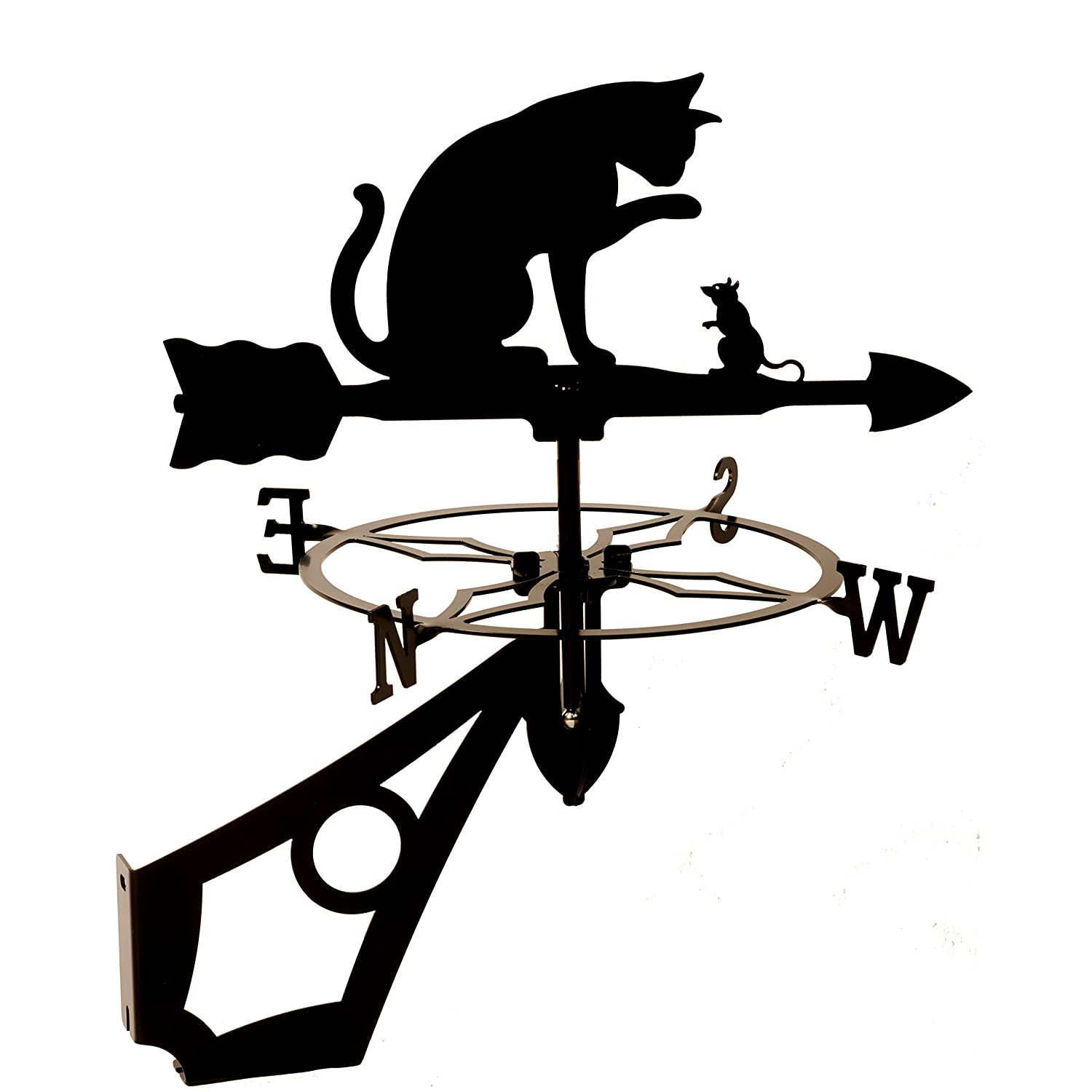 Dragon Laser Ltd. W153BLK Cat & Mouse Weathervane