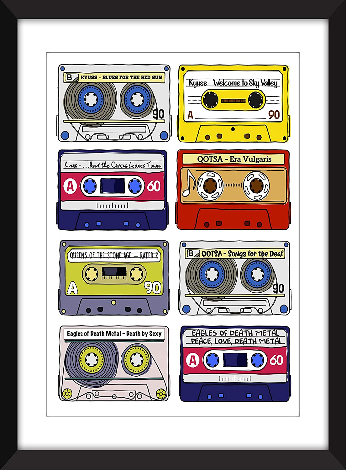 Josh Homme Albums Print - Kyuss/Queens of the Stone Age