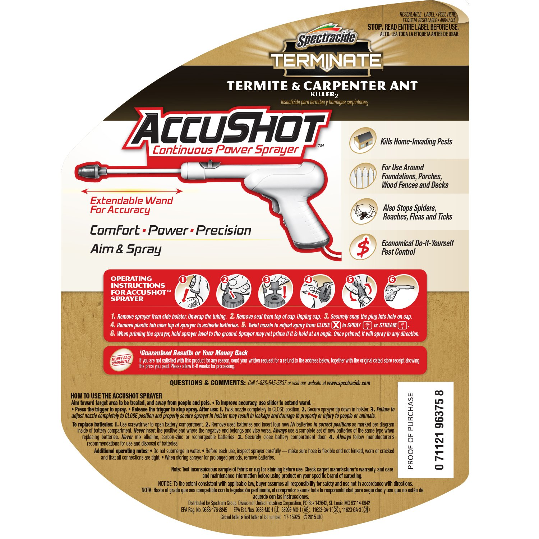 Amazoncom Spectracide Terminate Termite Carpenter Ant Killer - Pest control invoice template free best online gun store