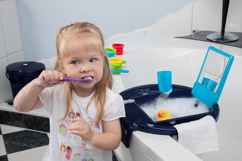 Rotho Babydesign Kiddy Wash Lavabo /à Suspendre sur la Baignoire Blue Pearl//Blanc//Translucent Lime