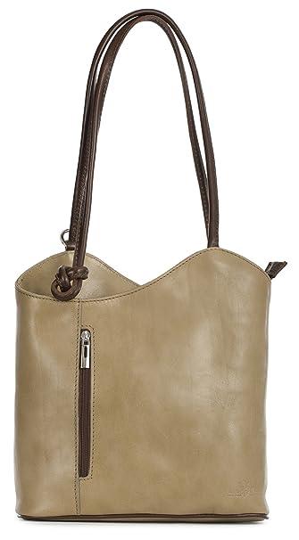 9e44d72fe429 LIATALIA Womens SOFT Italian Leather Structured Shoulder Backpack ...