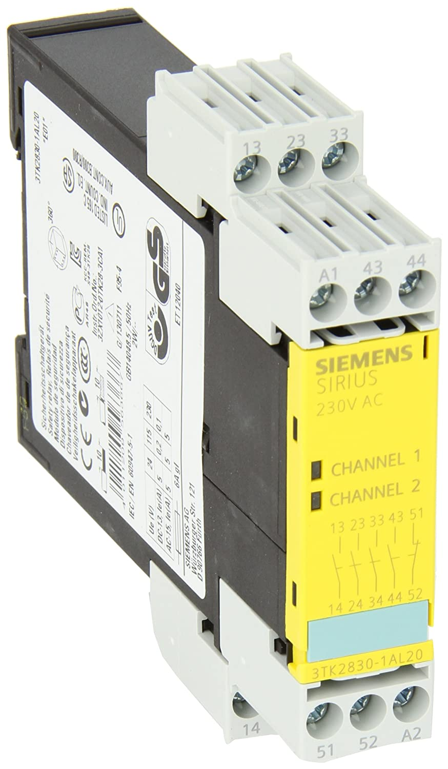 230VAC Rated Voltage Siemens 3TK28 30-1AL20 Safety Relay Expansion Unit 4 NO Enabling Contacts Screw Terminals 22.5mm Width 3TK28301AL20